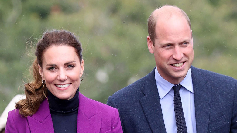 Kate Middleton and Prince William walk together