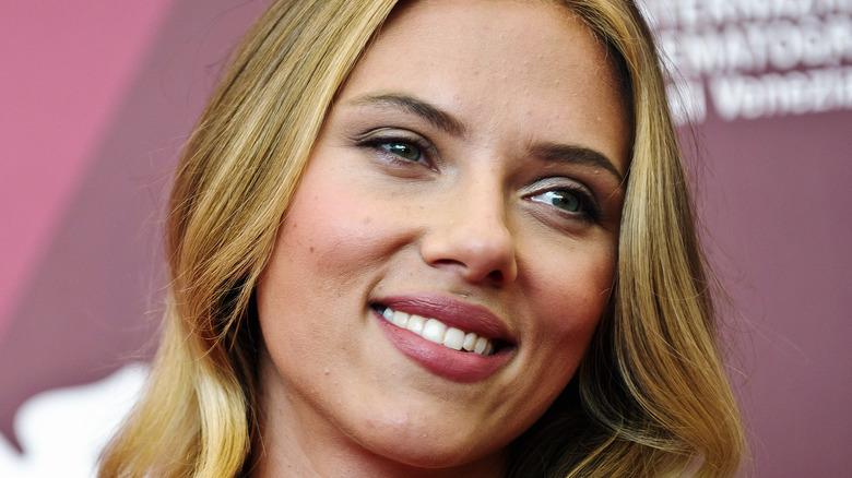 Scarlett Johansson smiling