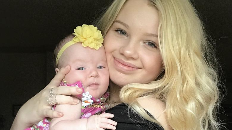 Maddie Lambert and her baby