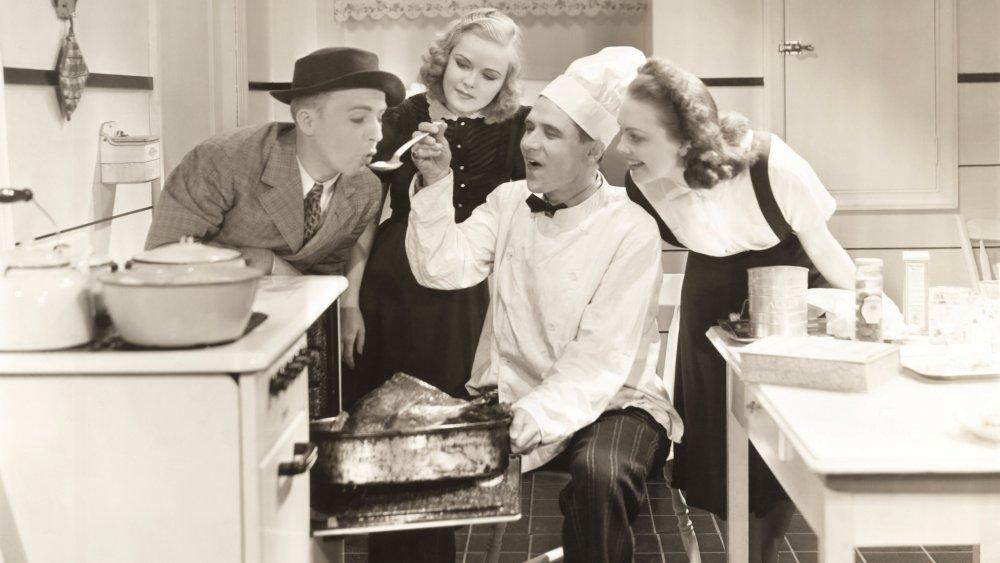 1930s kitchen scene