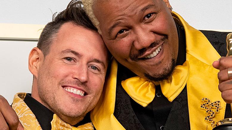 Travon Free and Martin Desmond Roe smiling