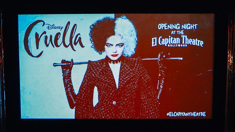 Screen lit up with Emma Stone's Cruella for its premiere