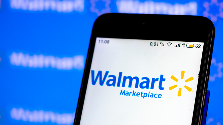 Walmart logo on phone