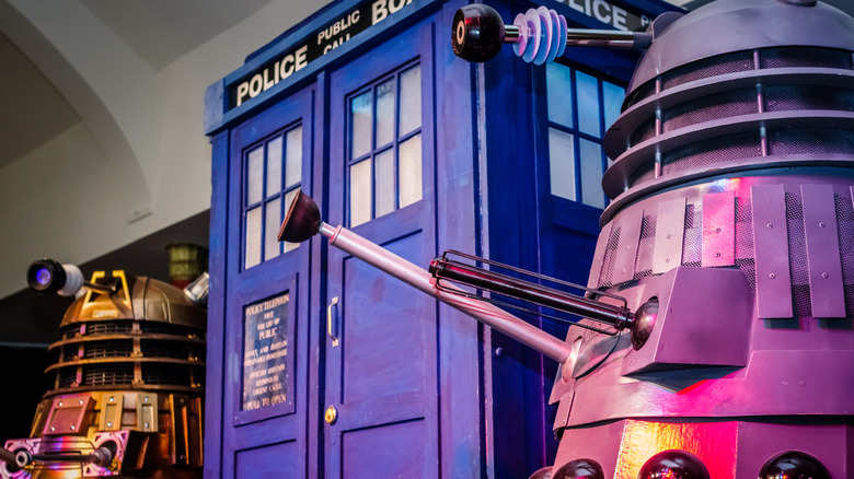 Tardis, Daleks from Doctor Who