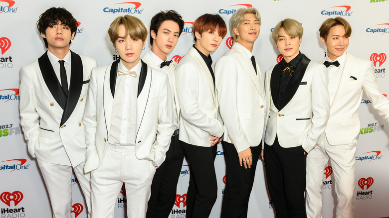 BTS in white suits
