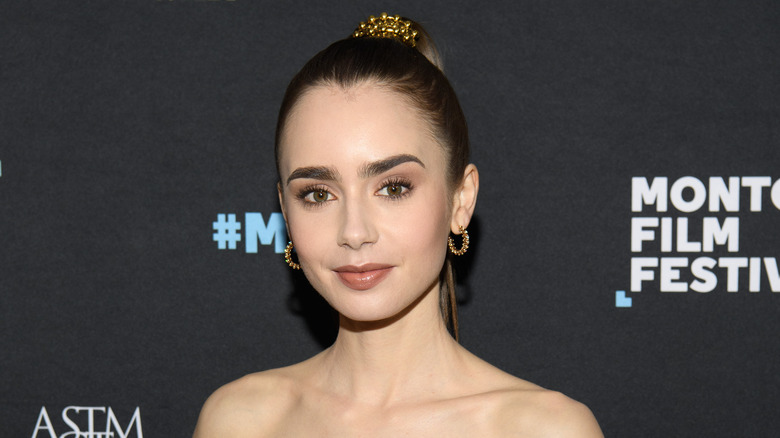 Lily Collins at a film festival