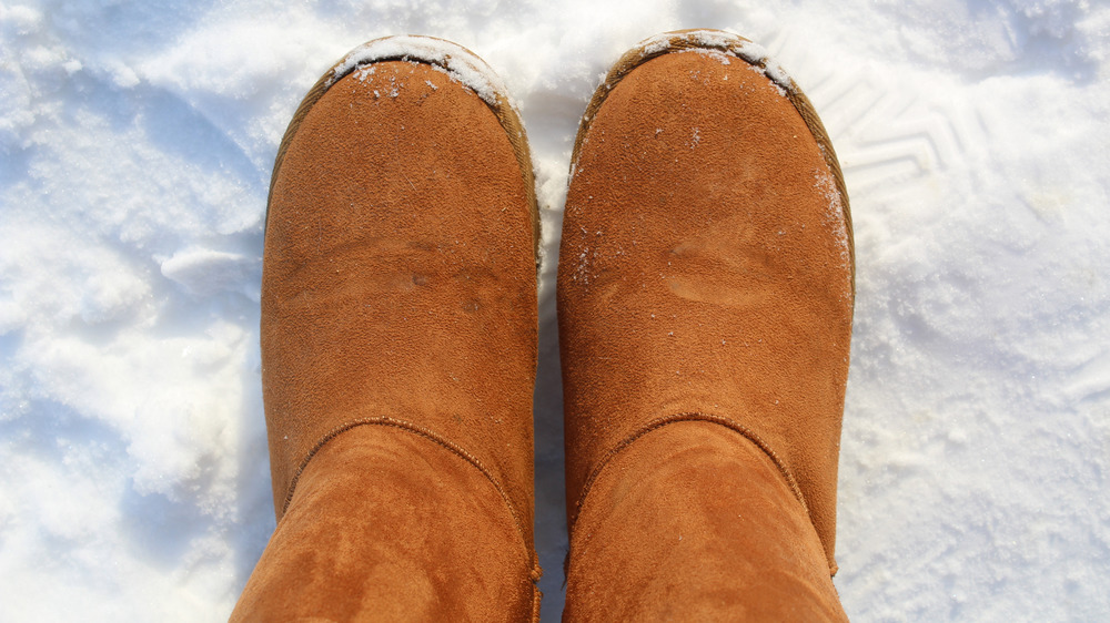 Ugg boots in snow
