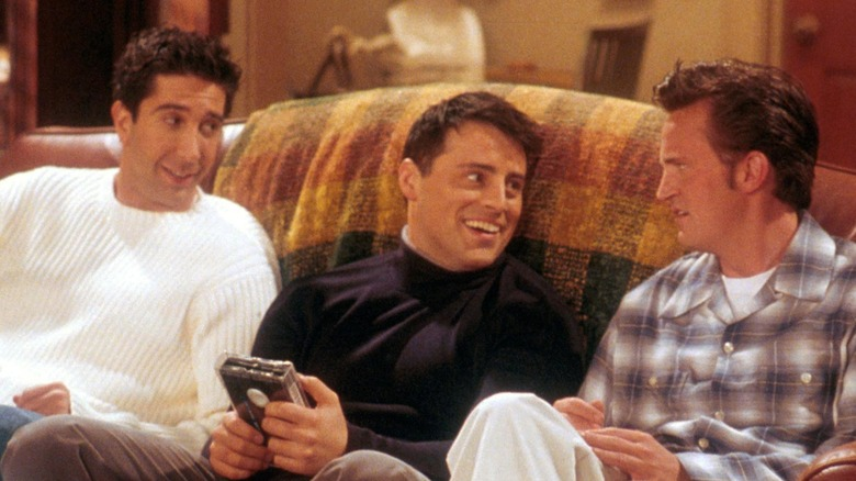 David Schwimmer, Matt LeBlanc, and Matthew Perry on 'Friends'
