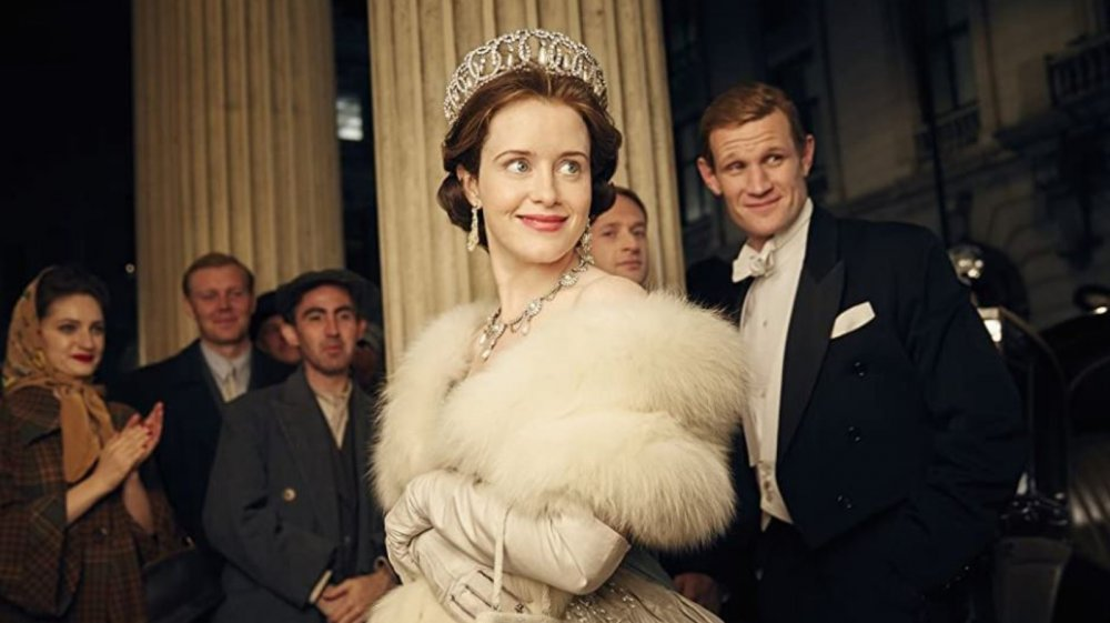 Claire Foy as Queen Elizabeth II on The Crown
