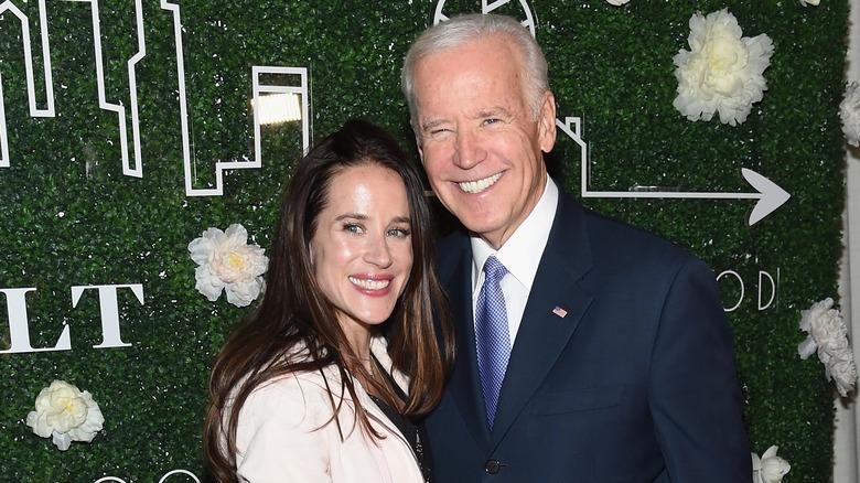 Ashley Biden with her father, Joe Biden