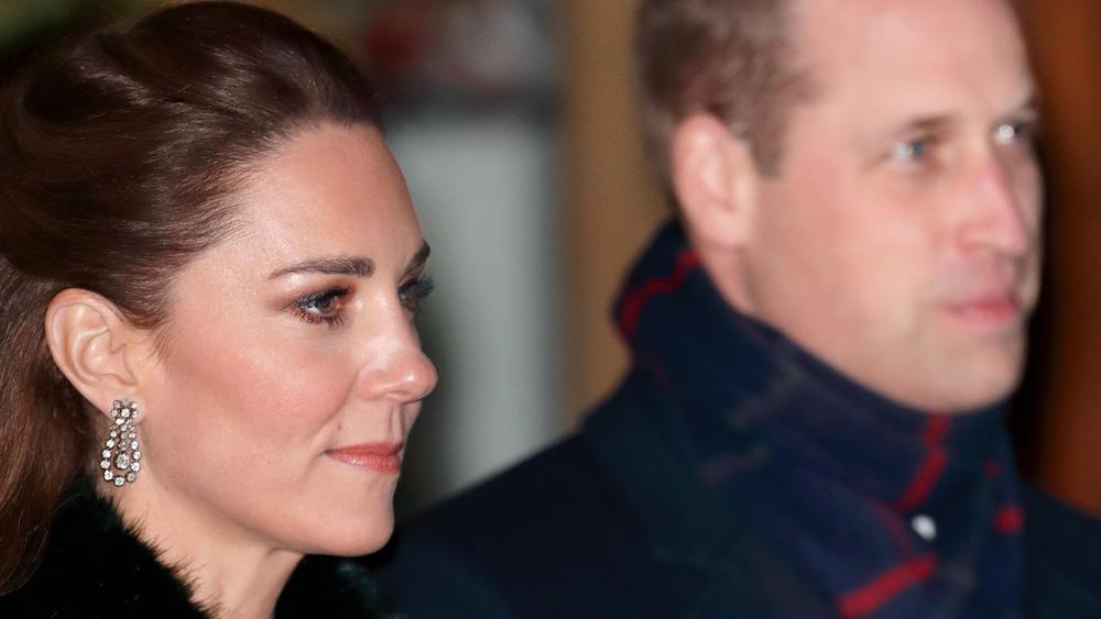 Kate Middleton foreground Prince William