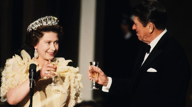 Queen Elizabeth and Ronald Regan