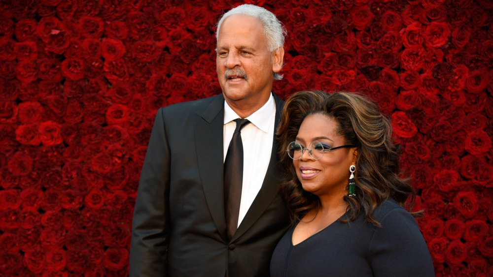 Oprah Winfrey and Stedman Graham at Tyler Perry Studios grand opening in 2019