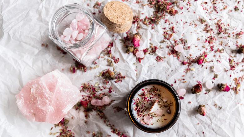 Rose quartz love alter