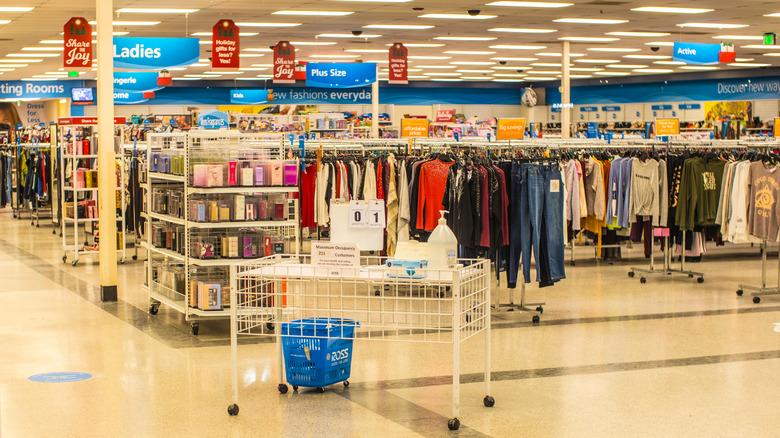 Ross store floor before opening