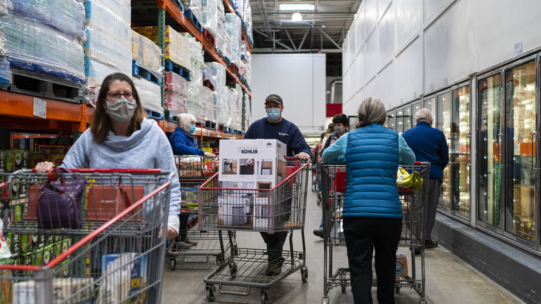 people shopping at Costco
