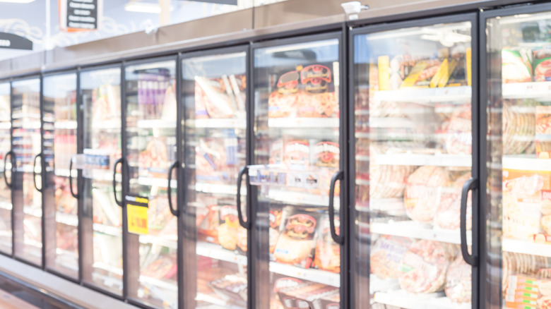 Grocery store frozen food section