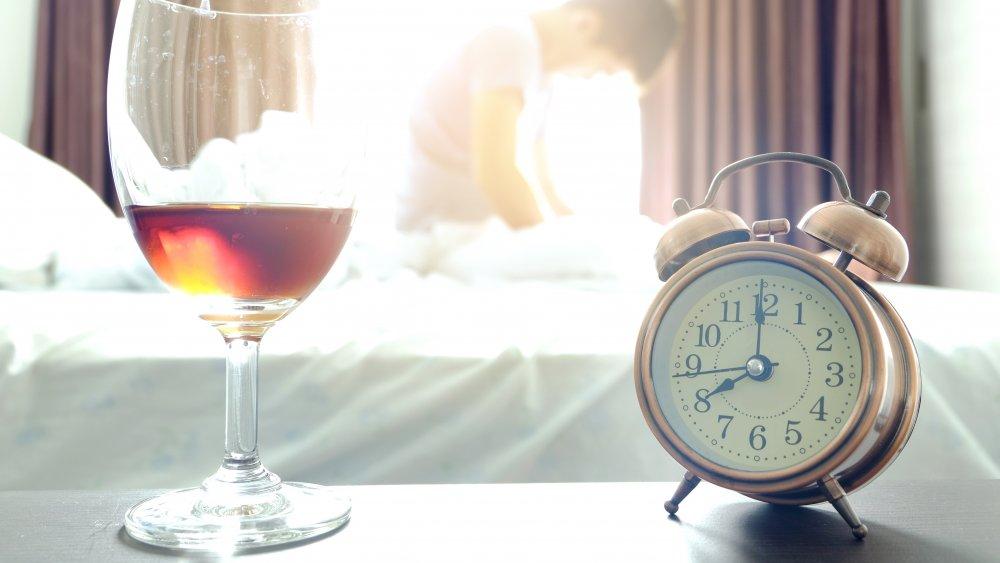 WIne and clock