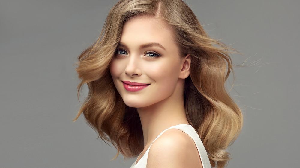 woman with fresh haircut