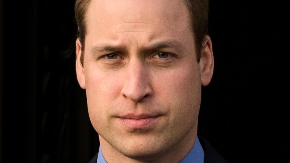 Prince William looks very serious