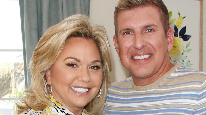 Julie Chrisley and Todd Chrisley smile