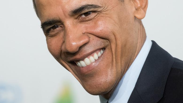 Close up, Barack Obama smiling