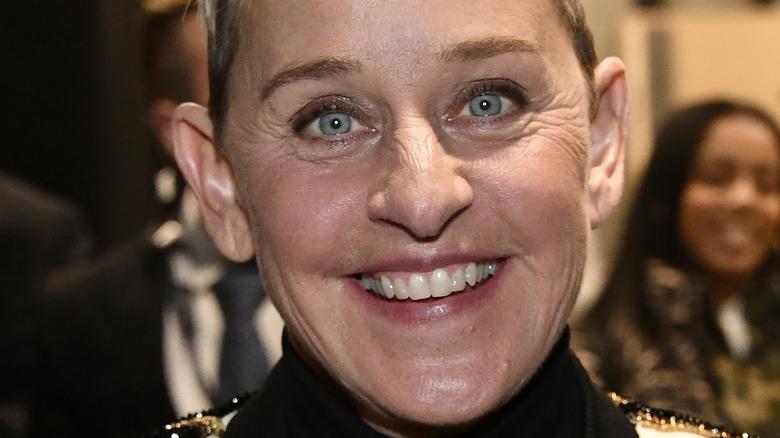 Ellen DeGeneres smiling close-up