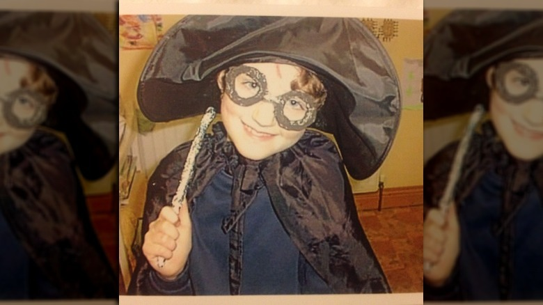 young Evanna Lynch in costume