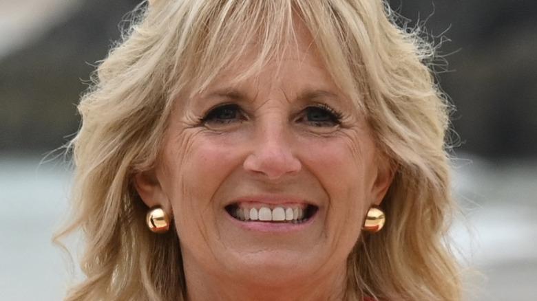 Dr. Jill Biden smiles