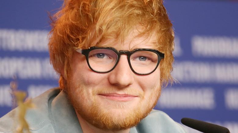 Ed Sheeran smiling
