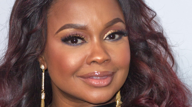 Phaedra Parks poses on the red carpet
