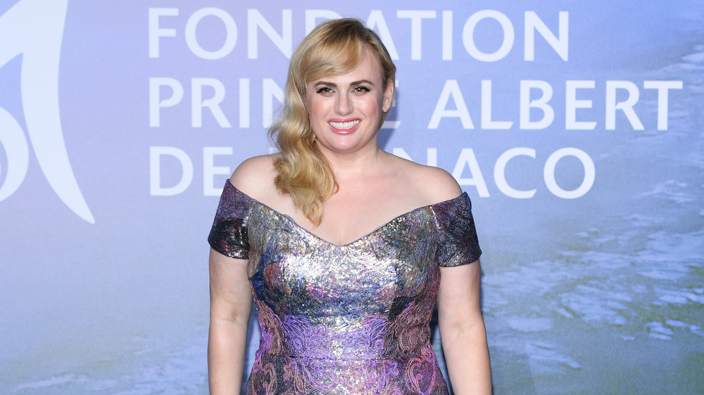 Rebel Wilson on the red carpet at a gala