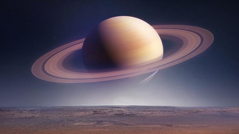 Saturn in the sky