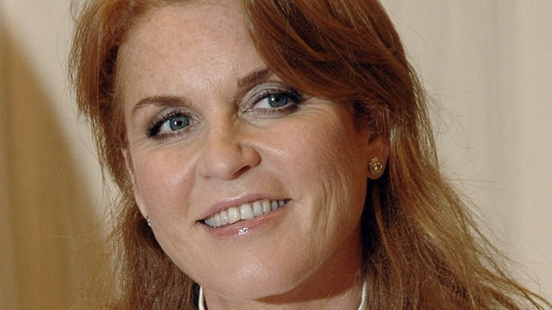 Sarah Ferguson smiling at book signing
