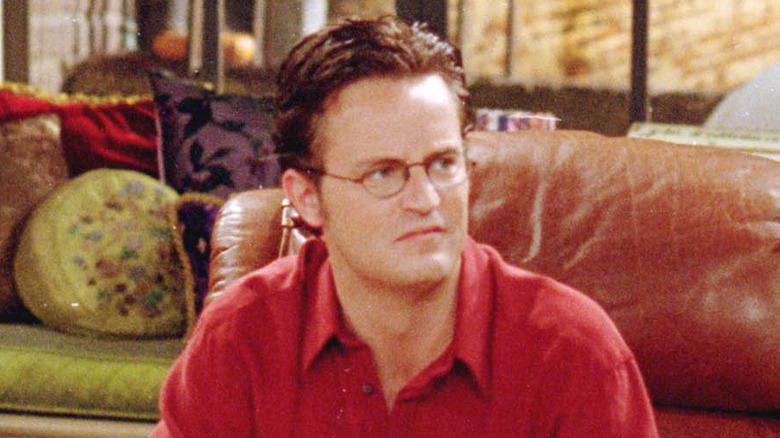 Matthew Perry on the set of Friends.