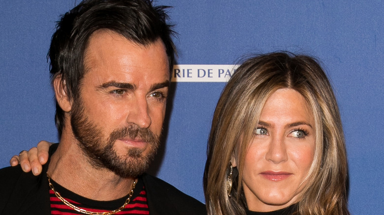 Jennifer Aniston and Justin Theroux on the red carpet.