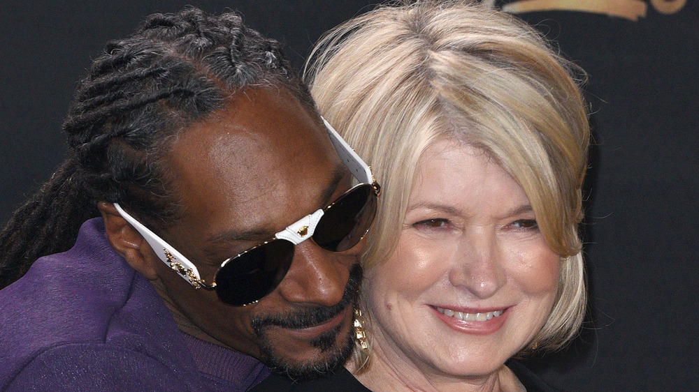 Snoop Dogg hugging Martha Stewart
