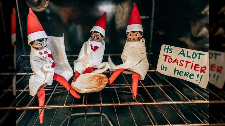Elf on the Shelf before pic in the oven