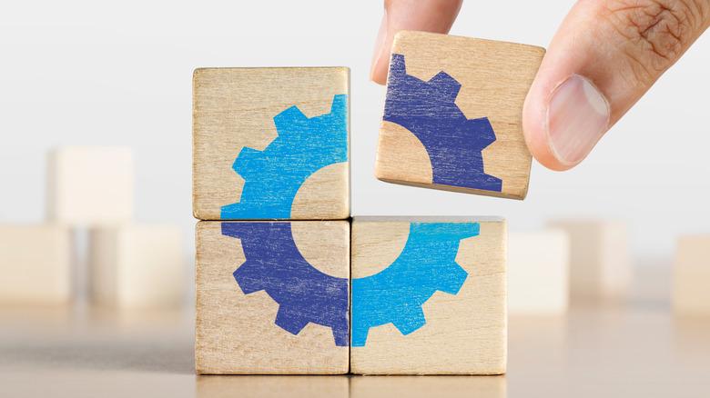 Building blocks symbolizing productivity