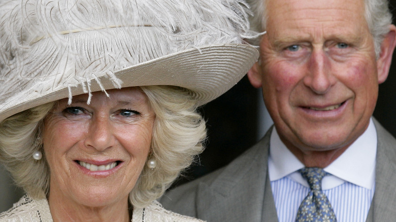 Camilla and Charles on their wedding day