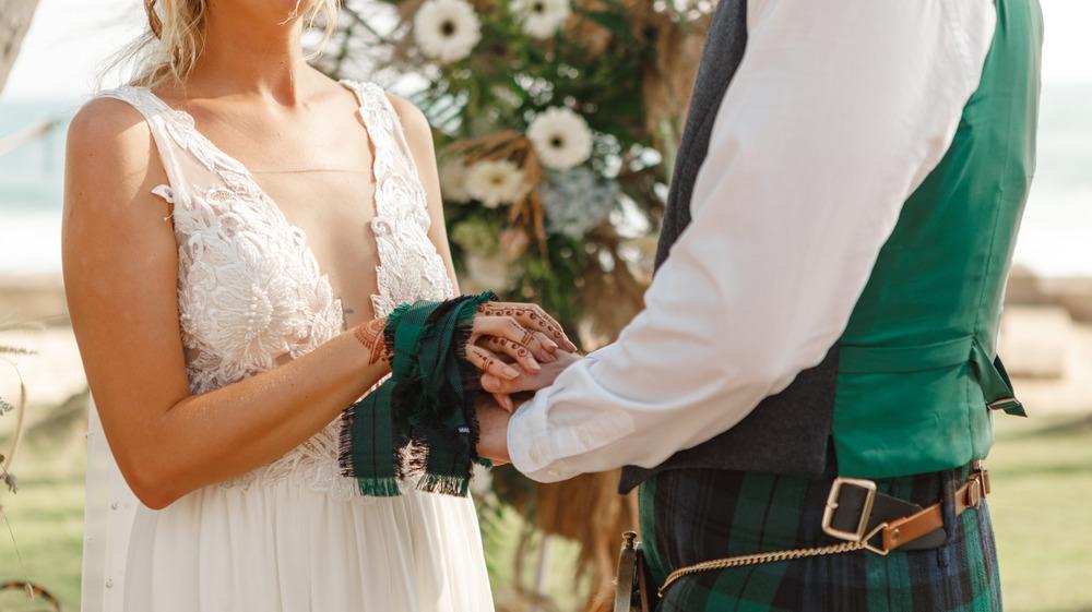 Scottish bride and groom
