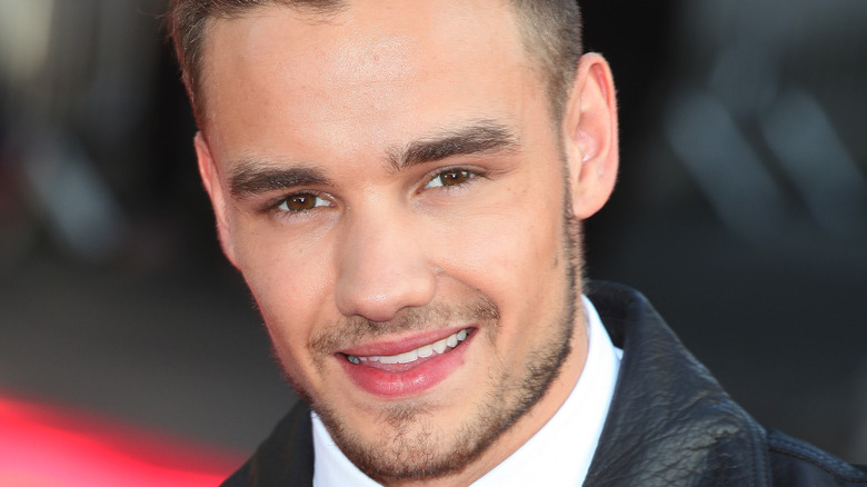 Liam Payne smiling at the camera