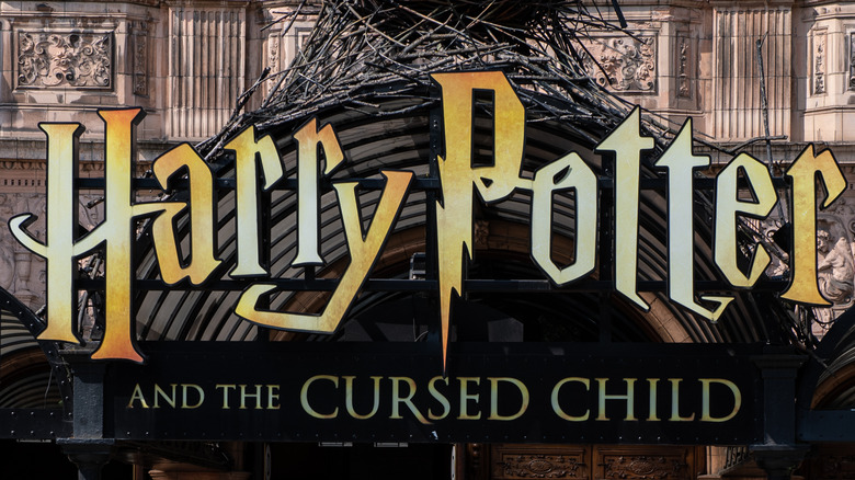 The marquee for Harry Potter and the Cursed Child