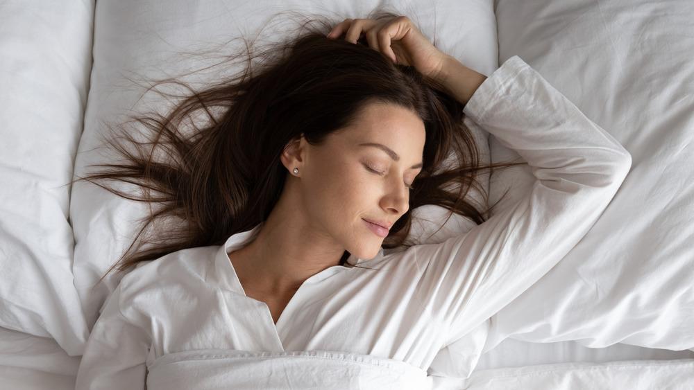 Woman sleeping peacfully