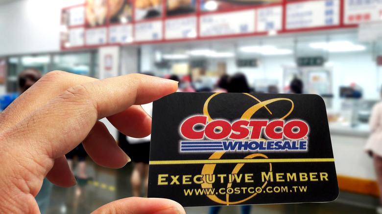 Costco membership card, food court
