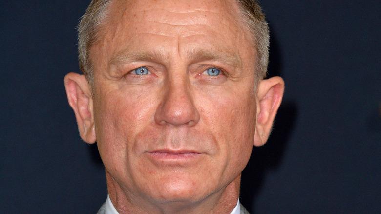 Daniel Craig's piercing blue eyes up close