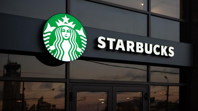 Starbucks logo and sign