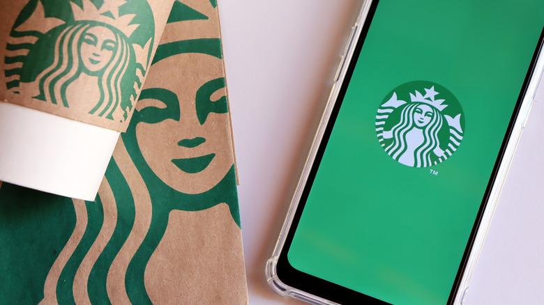 Starbucks app on smartphone screen