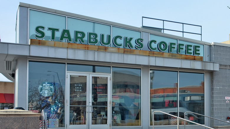 A Starbucks store front