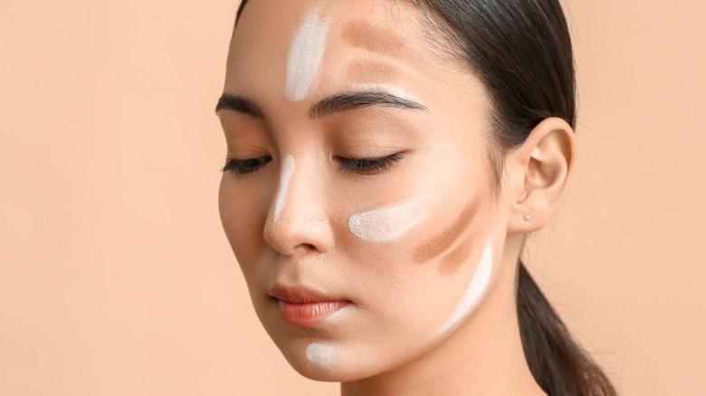 woman with contour makeup